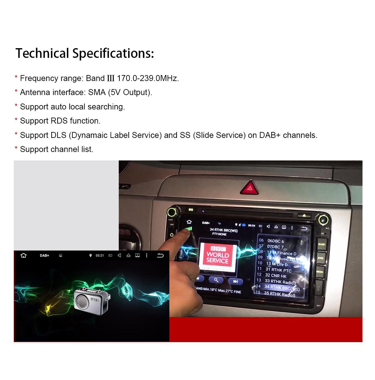Joying DAB+ Digital Radio Brodcast Receiver for Android Head Unit