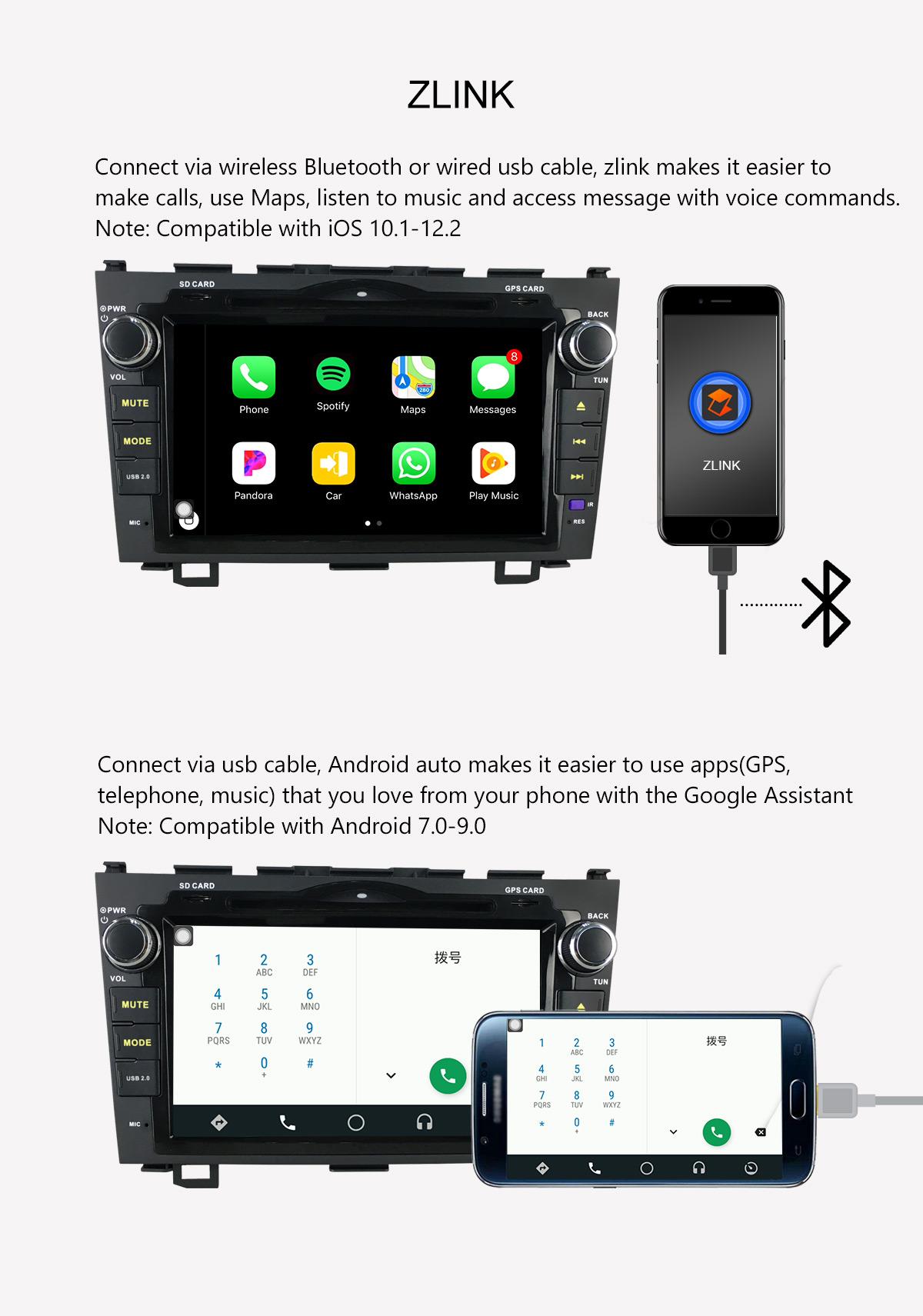 Joying 4G LTE Car Stereo Honda CRV Android 8 1 0 Head Unit Replacement  64GBRAM