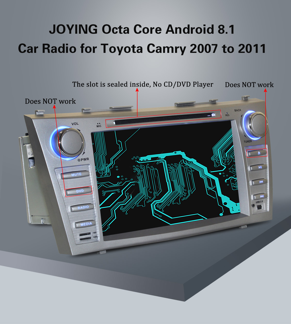 Joying Toyota Camry Head Unit 8 inch HD 4GB/64GB Android 8 1 Car Sound  System