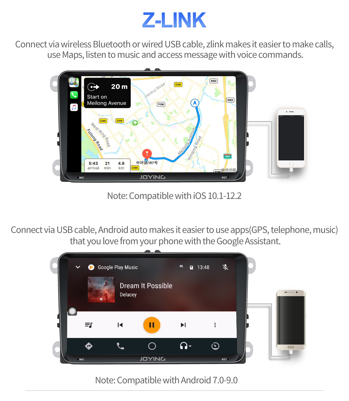 Joying 9 inch VW Car Stereo DSP System Android 8 1 0 HD 4G Head Unit